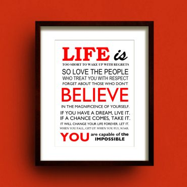 Life Is… print