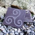 Hand carved celtic slate coasters