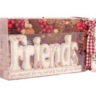 Pot Pourri Gift Box with 'Friends' Plaque