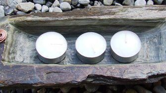 Slate Tealight Holder