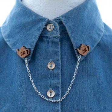 Teapot Collar Brooch