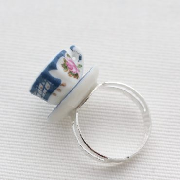 Teacup Ring-Navy and...