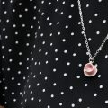 Plain pink teacup Necklace
