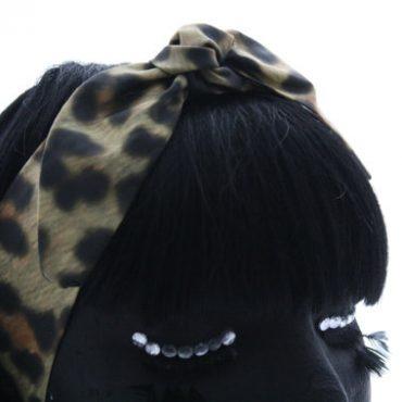Retro Headscarf-Leopard Print