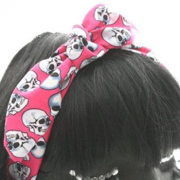Retro Headscarf-Pink Skull...