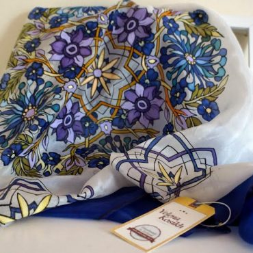 Saphire Floral Silk...