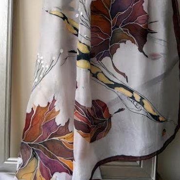 Autumn Silk Scarf/Shawl