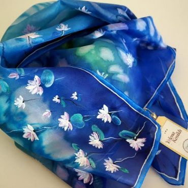 Waterlilies Silk Scarf/Shawl