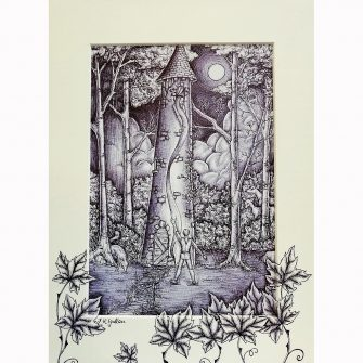 Rapunzel - Trapped in the Tower Print by Jenni Kilgallon