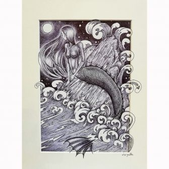 The Little Mermaid Print by Jenni Kilgallon