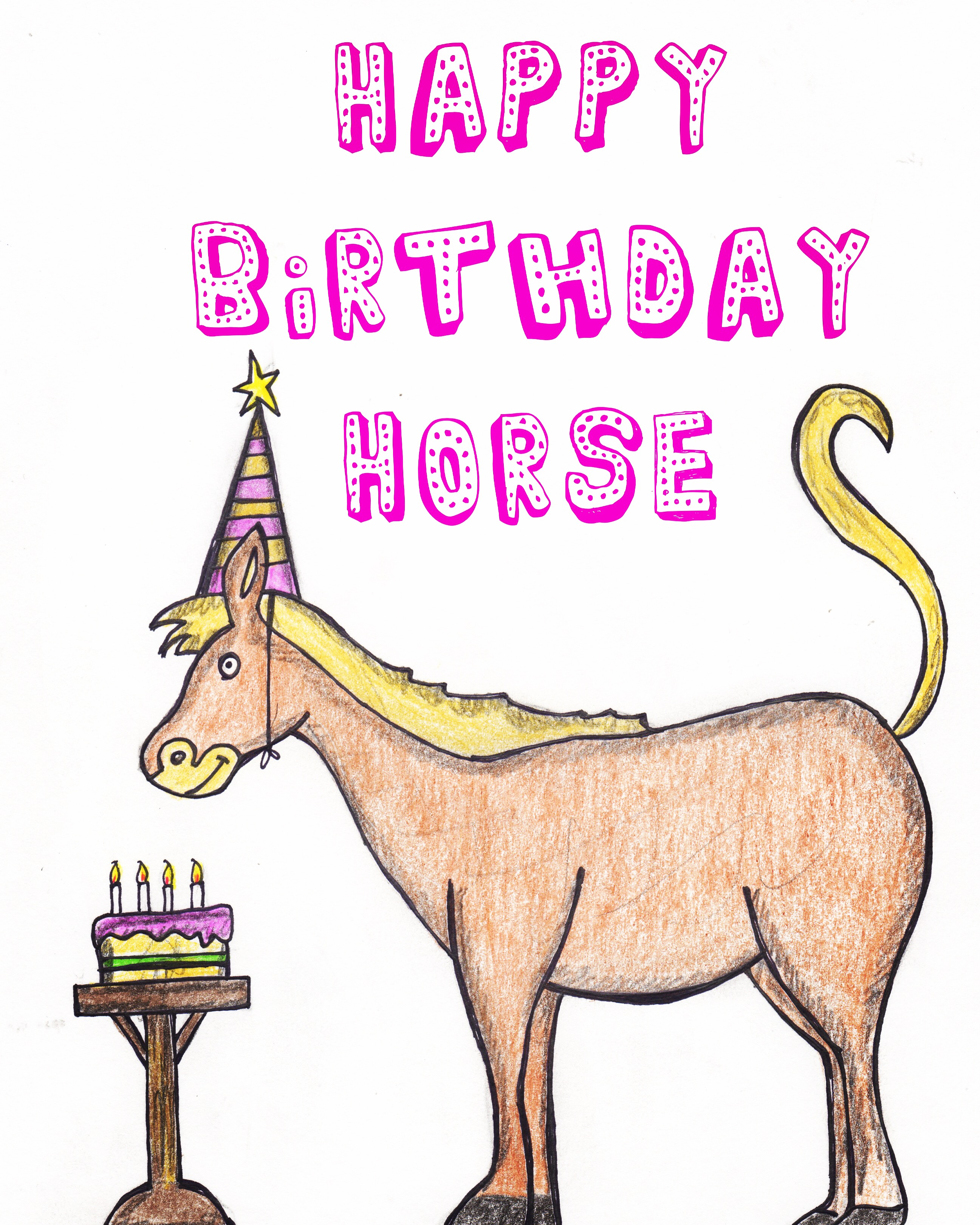 Happy Birthday Horse Greeting Card Artist Gift Gallery