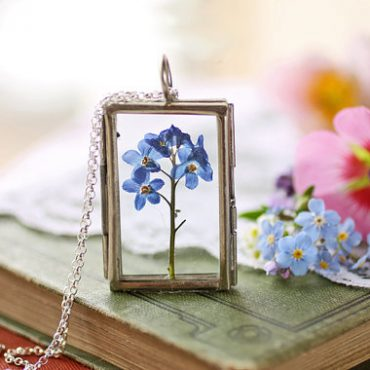Forget-Me-Not Silver Locket