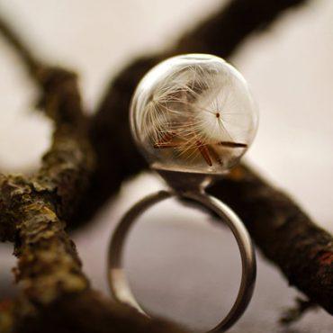 Silver Dandelion Ring