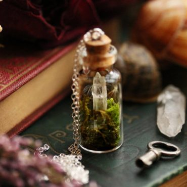 Crystal Terrarium Necklace...