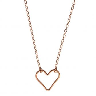 Rose Gold, Heart, Necklace, A Box for my Treasure, Valentines, Love,