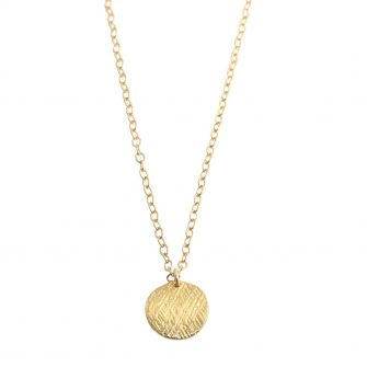 Gold Disc Necklace, A Box for my Treasure