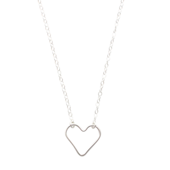 Silver Heart Necklace, A Box for my Treasure
