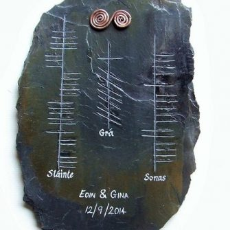 Wedding Piece-Slate Ogham Irish