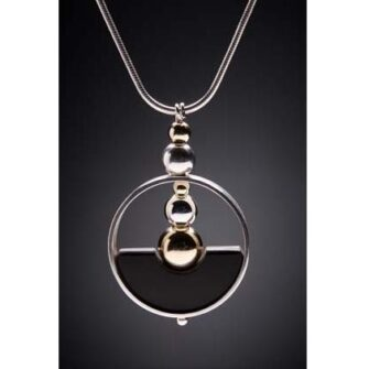 Pendant Half-Full - Silverstone Dimensions Necklace