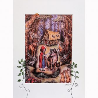 Little Red Riding Hood Print by jenni Kilgallon