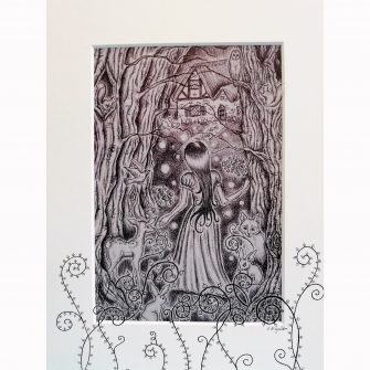 Snow White Print by Jenni Kilgallon