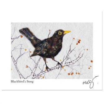 A Blackbird song for me Print