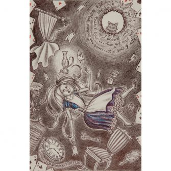 Alice Falling Down the Rabbit Hole Print