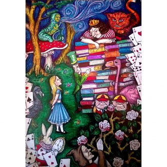Alice in Wonderland - the Queens Trial, Colour Print