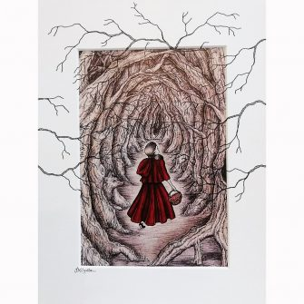 Little Red Riding Hood - Lost in the Woods print by Jenni Kilgallon