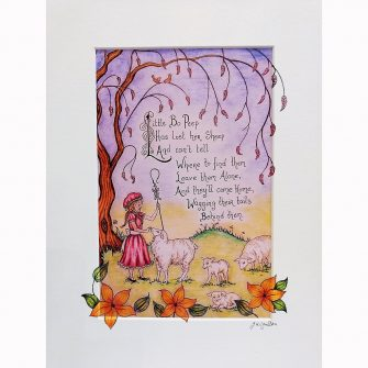 Little Bo Peep Print by Jenni Kilgallon
