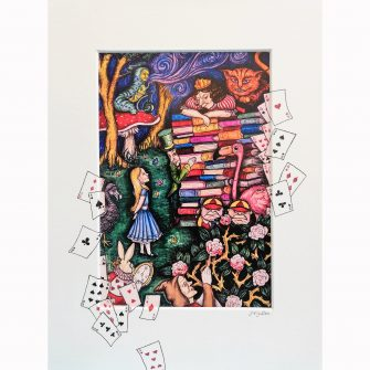 Alice in Wonderland - the Queens Trial, Colour Print by Jenni Kilgallon