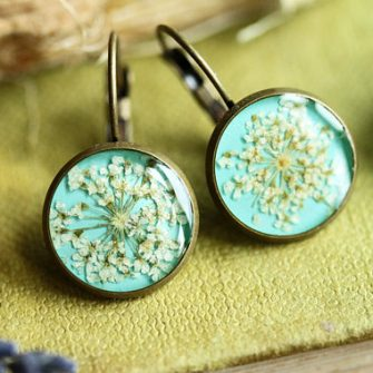 Queen Annes Lace Drop Earrings