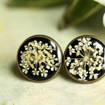 Ruby Robin Queen Annes Lace Earrings