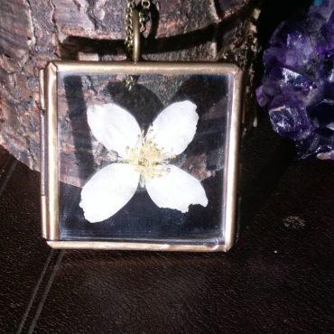 White Flower Locket