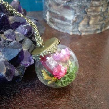Pink Crystal Terrarium...
