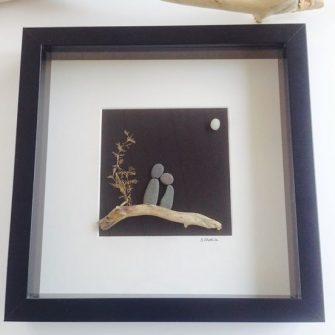 Anniversary Engagement Piece, Pebble Art