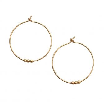 Beaded Gold Hoop Earrings, A Box for my Treasure