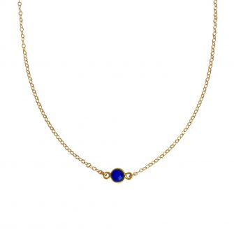 Blue Lapis Gold Choker, A Box For My Treasure