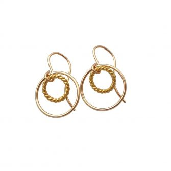 Encircled Gold Earrings, A Box For My Treasure
