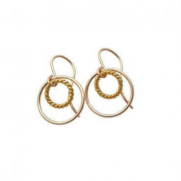 Encircled Gold Earrings