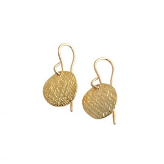 Gold Disc Earrings, A Box For My Treasure