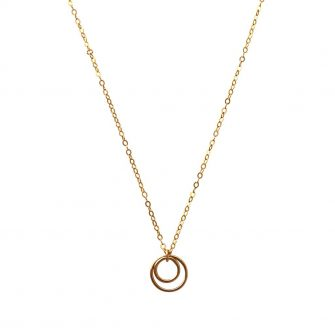 Gold Double Open Circle Necklace, A Box For My Treasure