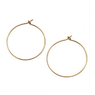 Gold Hoop Earrings, A Box for my Treasure