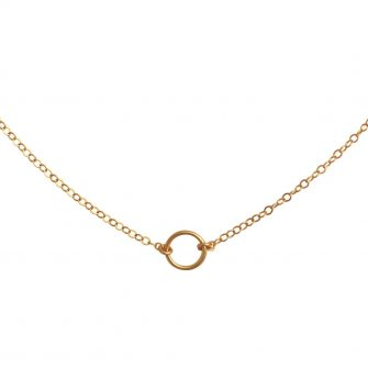 Gold Open Circle Choker, A Box For My Treasure