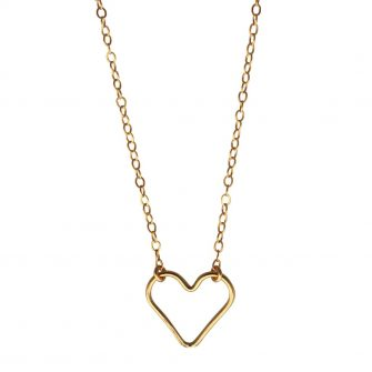 Gold Heart Necklace, A Box for my Treasure,
