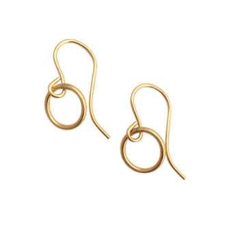 Small Gold Open Circle Earrings, A Box For My Treasure