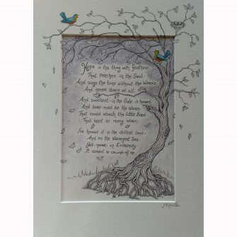 Hope is the thing with feathers print