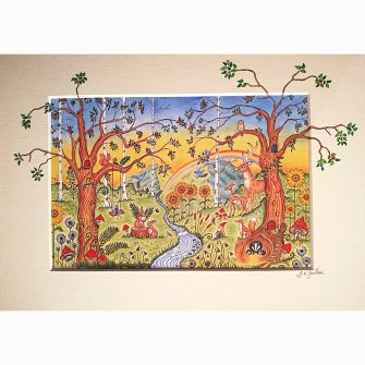 Enchanted Woodland Nursery Mural Print