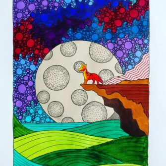 Full Moon Print, P Joyce Art