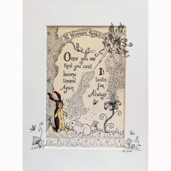The Velveteen Rabbit Print by Jenni Kilgallon